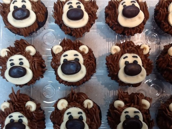 grizzly bear cupcakes